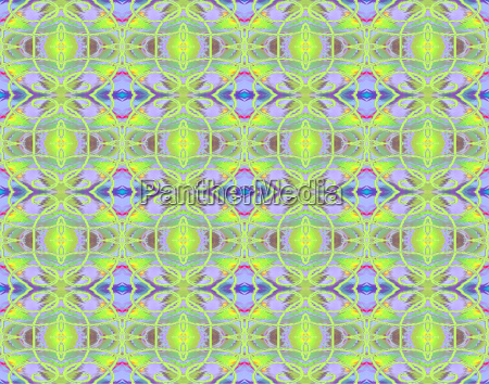 abstract continuous pattern colorful ornaments squiggly