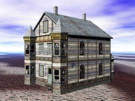 altes landhaus aus holzfassade