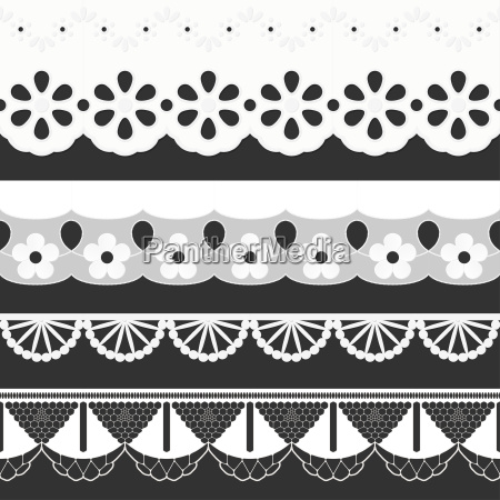 collection seamless ribbons festoons