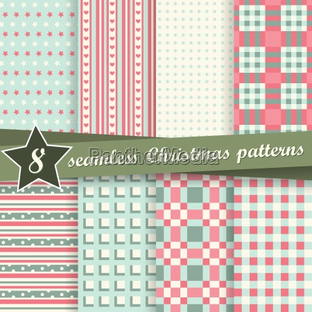 collection seamless christmas backgrounds
