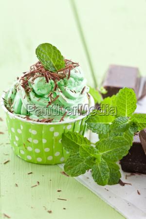 frozen yogurt with mint
