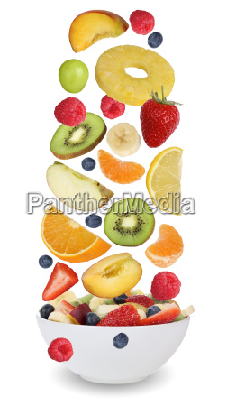 fruit salad with fruits such as