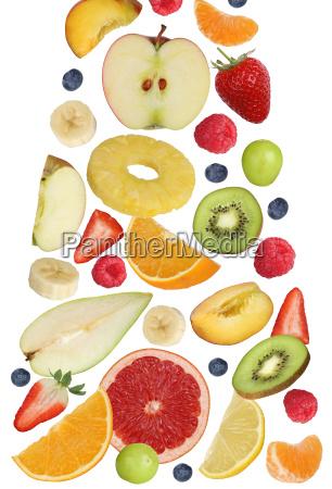 falling fruits like orange fruit apple
