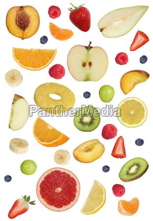 collage of fruits like orange fruit