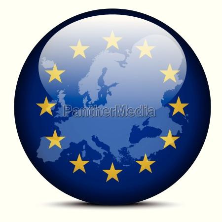 karte auf flag schaltflaeche von europaeischen