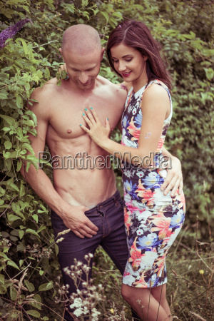 young sexy couple spending quality moments