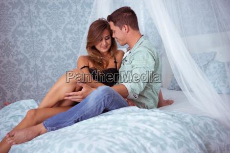 beautyful paar in romantische stimmung auf