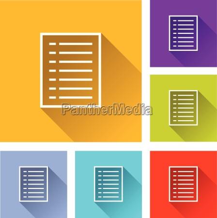 dokument symbole
