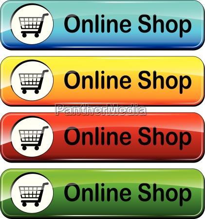 online shop drucktasten