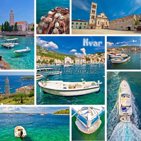 insel hvar touristenziel collage