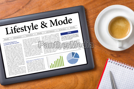 tablet on desk lifestyle and