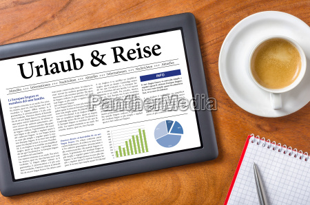 tablet desk holiday and travel