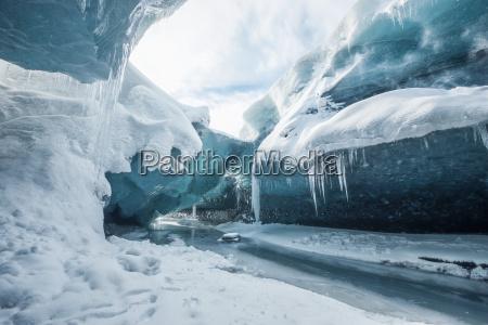 im inneren des gletschers