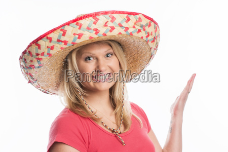 energetic woman with sombrero