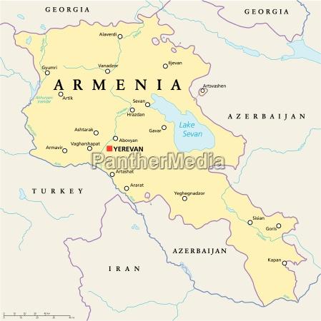 armenien political map