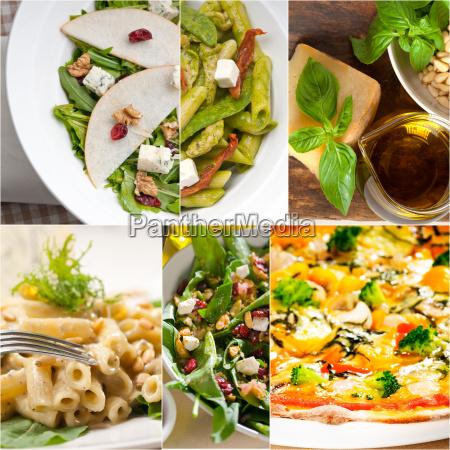 gesunde und schmackhafte italienische kueche collage