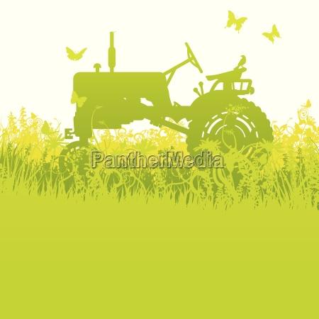 traktor bei der ernte