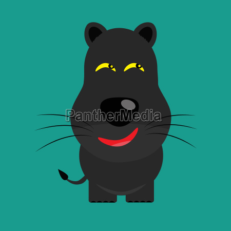 tier raubkatze grosskatze illustration cartoon vektor