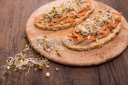 bread with vegan spread made from