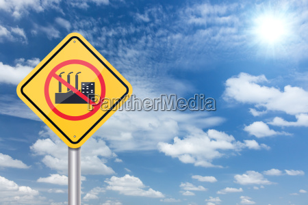 stop factory industry sign banner and