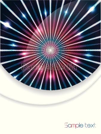 prospektgestaltung mit lasereffekten
