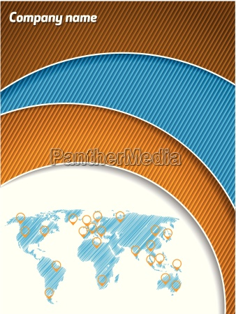 cool business brochure with map and