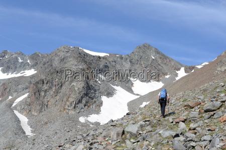 aufstieg zum daunjoch stubaier alpen