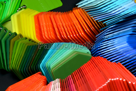 color sample plates for plastic coloring