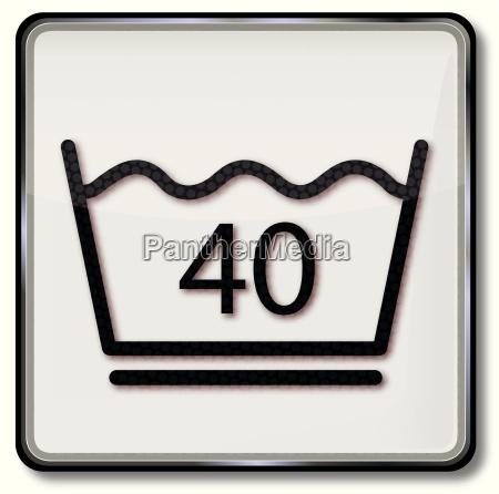 textilpflegesymbol pflegeleicht waschen 40 grad celsius