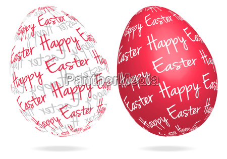 happy easter abstract 3d eggs with