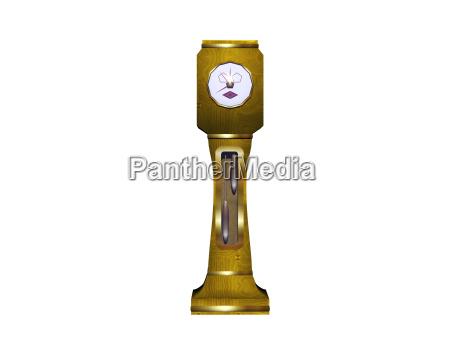 comic grandfather clock with pendulum and