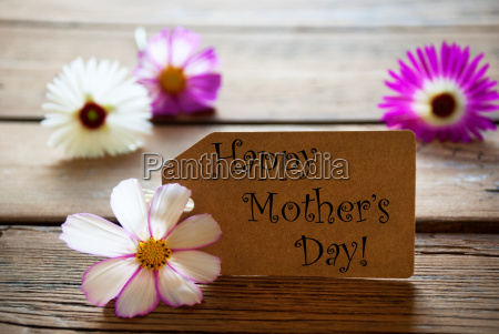 label with text happy mothers day