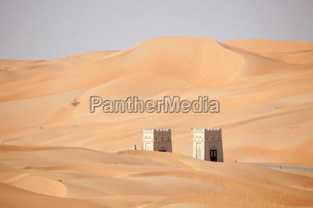 dunes in the liwa desert abu