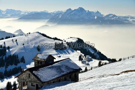 gebirgsspitze der rigi kulm alb schweizer