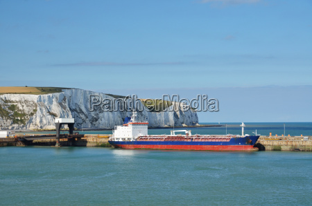 freighter in dover harbour
