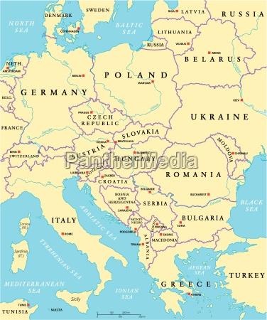 mitteleuropa politische karte
