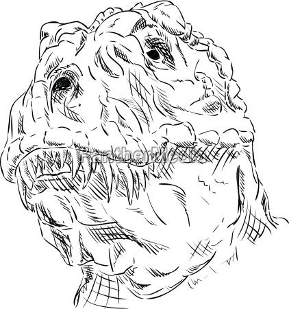 freisteller farbe abgeschieden malen dinosaurier zeichnen