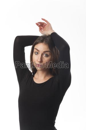 portraet einer balletttaenzerin
