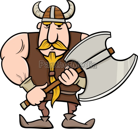 wikinger karikatur illustration