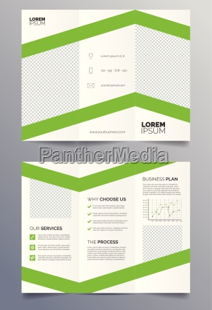 business trifold brochure template green