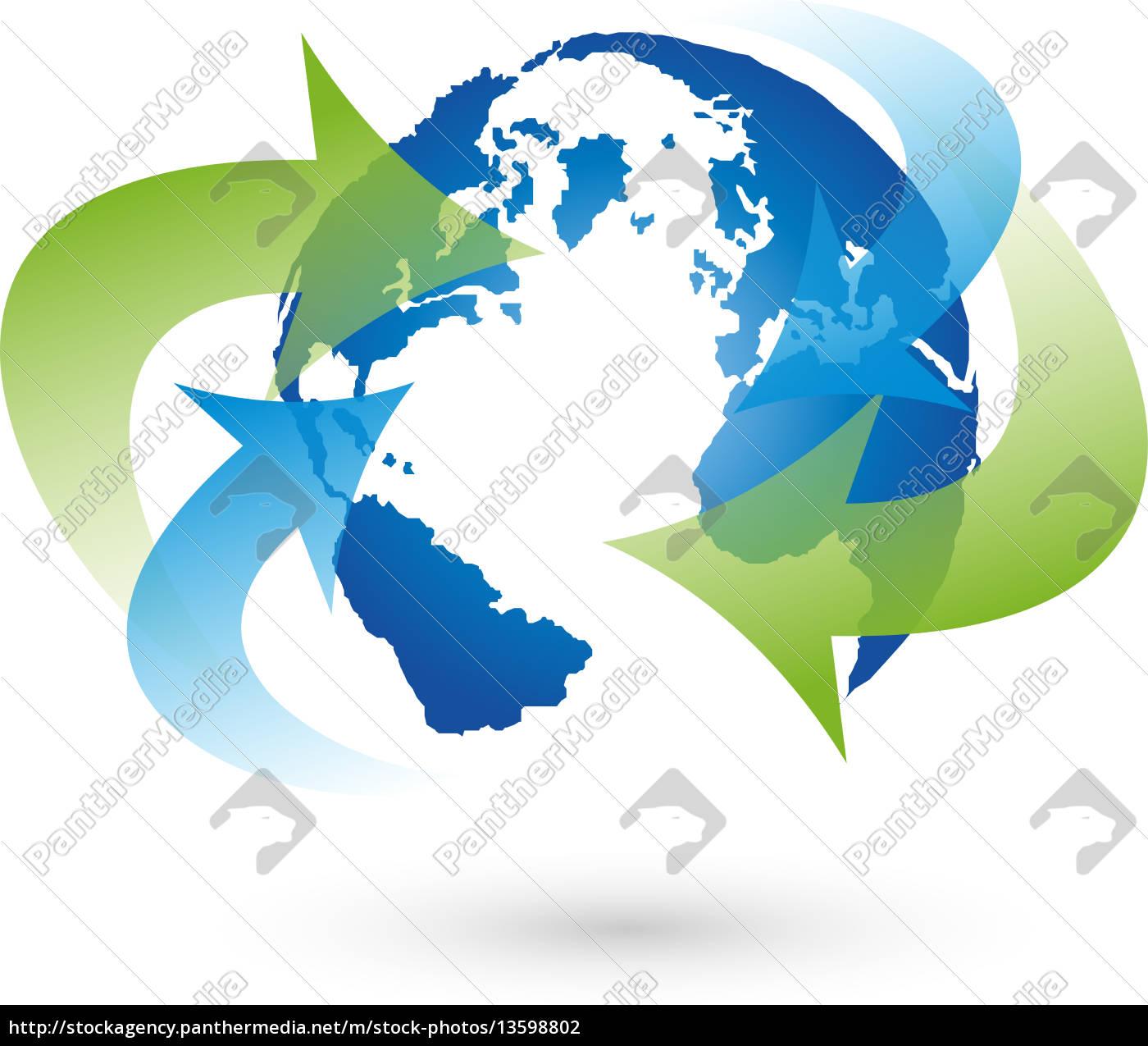 Globus Weltkugel Karte.Stockfoto 13598802 Logo Erde Globus Weltkugel