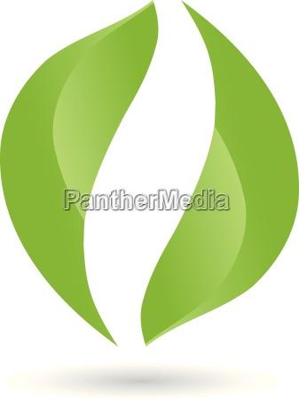 logo blaetter pflanze bio