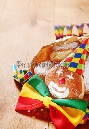 colorful carnival clown doughnut