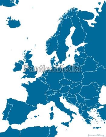 politische landkarte von europa ueberblick
