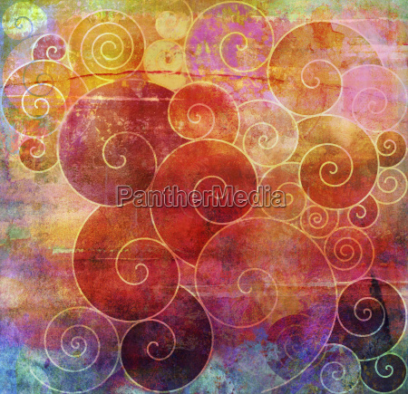 spirals graphic textures painting