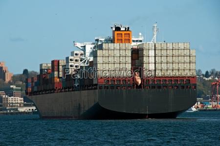 cargo ship entering the puget sound
