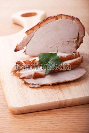 sliced roast pork