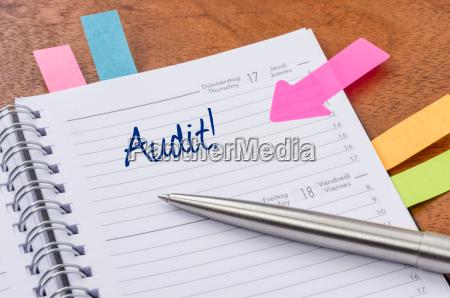 event calendar with notesticker audit