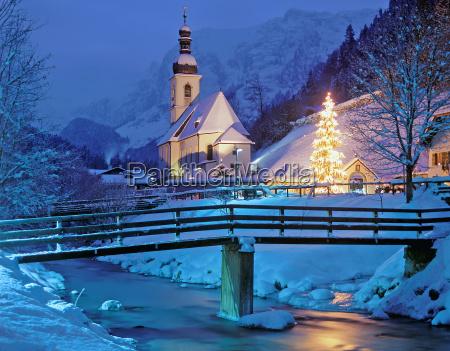 die weihnachtliche kapelle von ramsau berchtesgadener
