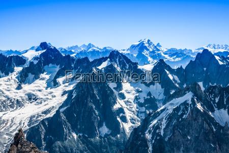 blick auf den mont blanc bergkette